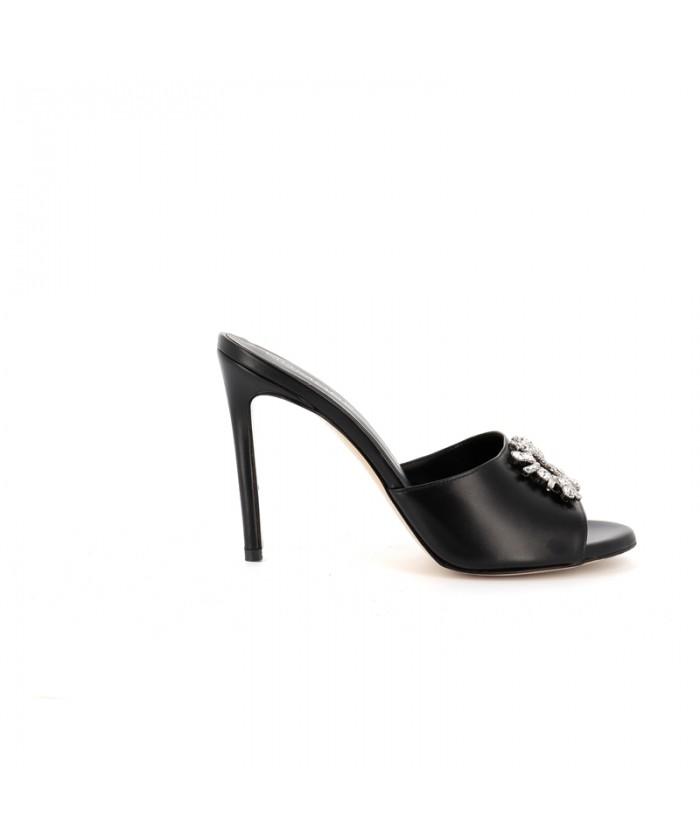 AMELIA Sandale Cuir Noir...