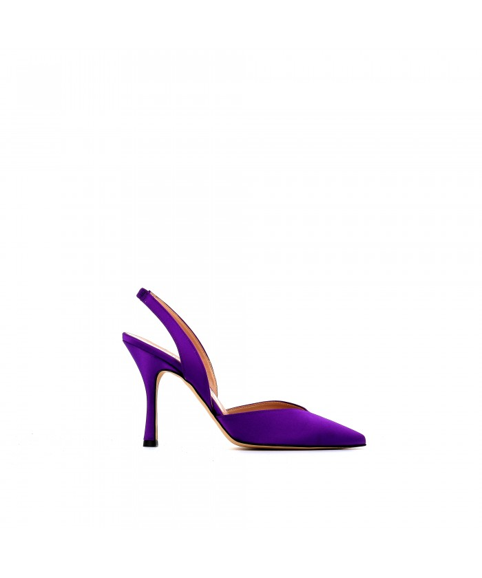 Escarpin Mina satin violet