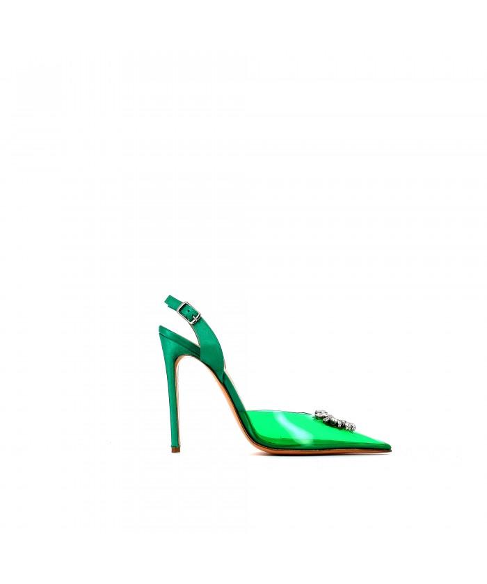 Escarpin Milla Plexi Vert à...