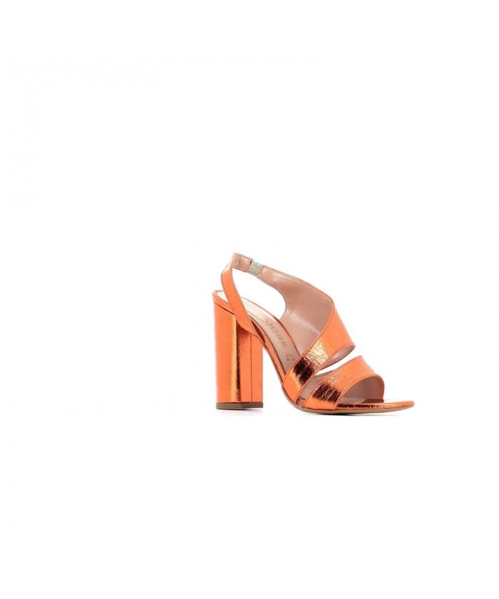 Sandale Laminé Orange à...