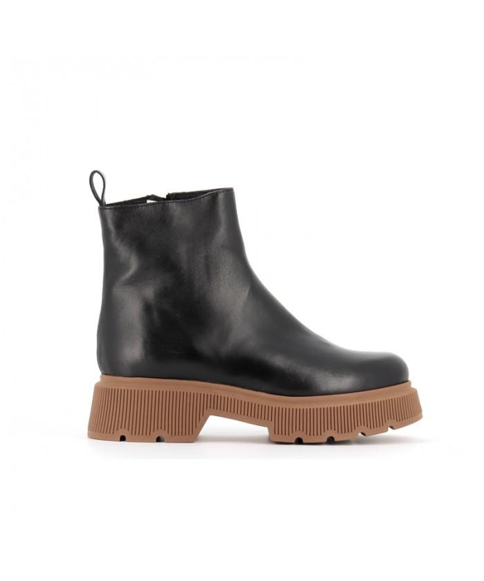 Boots Kina Cuir Noir à...