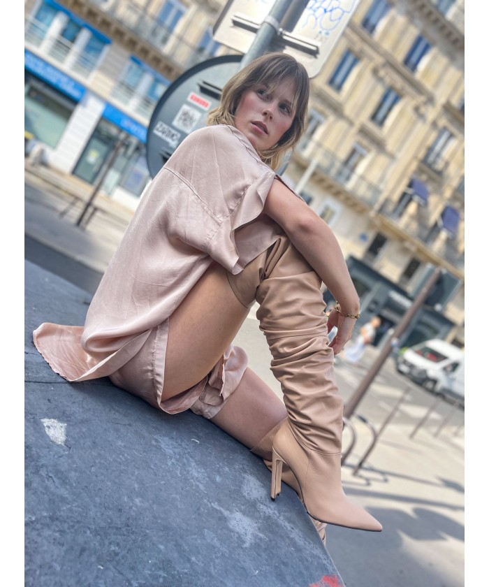 Cuissarde Pretty cuir nude...