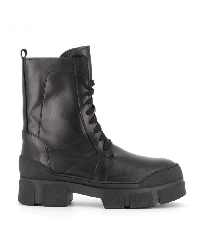 Boots MALIKA cuir noir