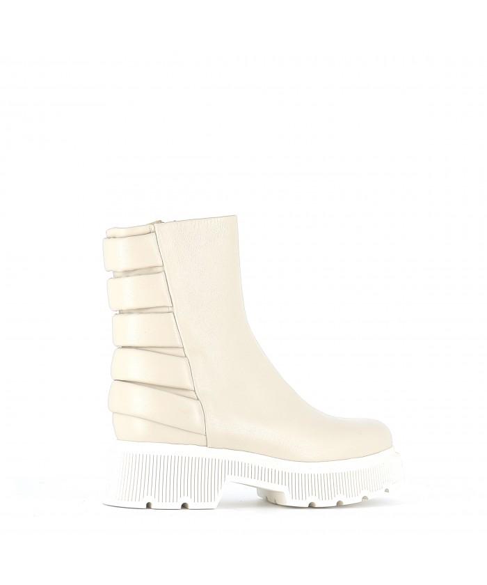 Boots Kenya72 Cuir Ecru