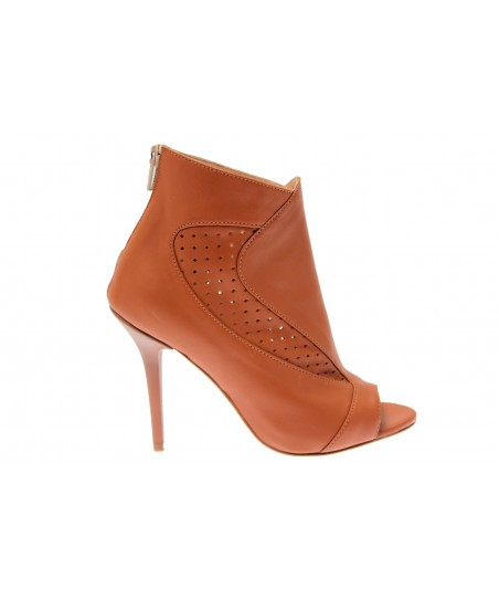 Bottine Alice: Cuir Camel